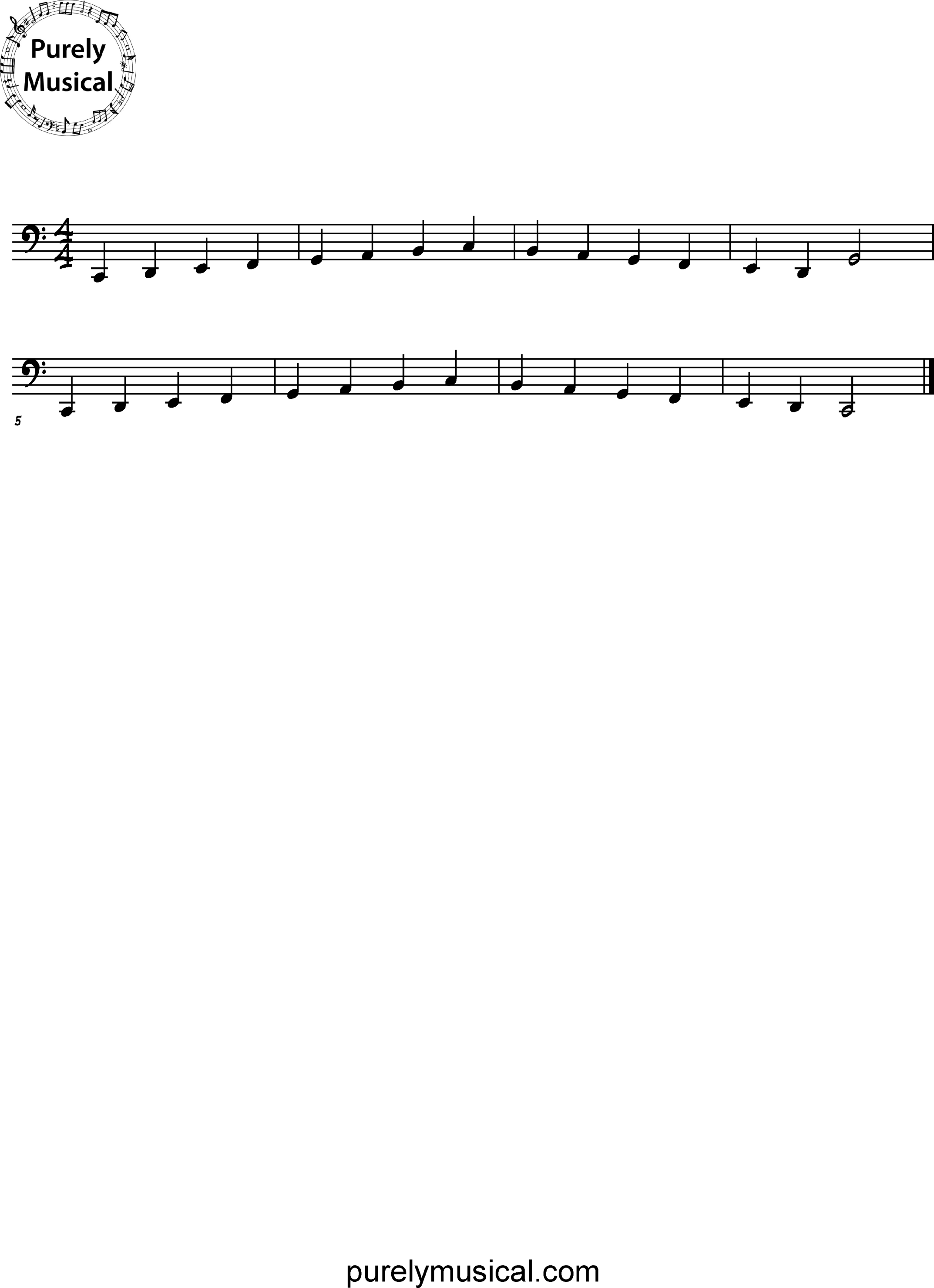 Beginner  Scale C Major