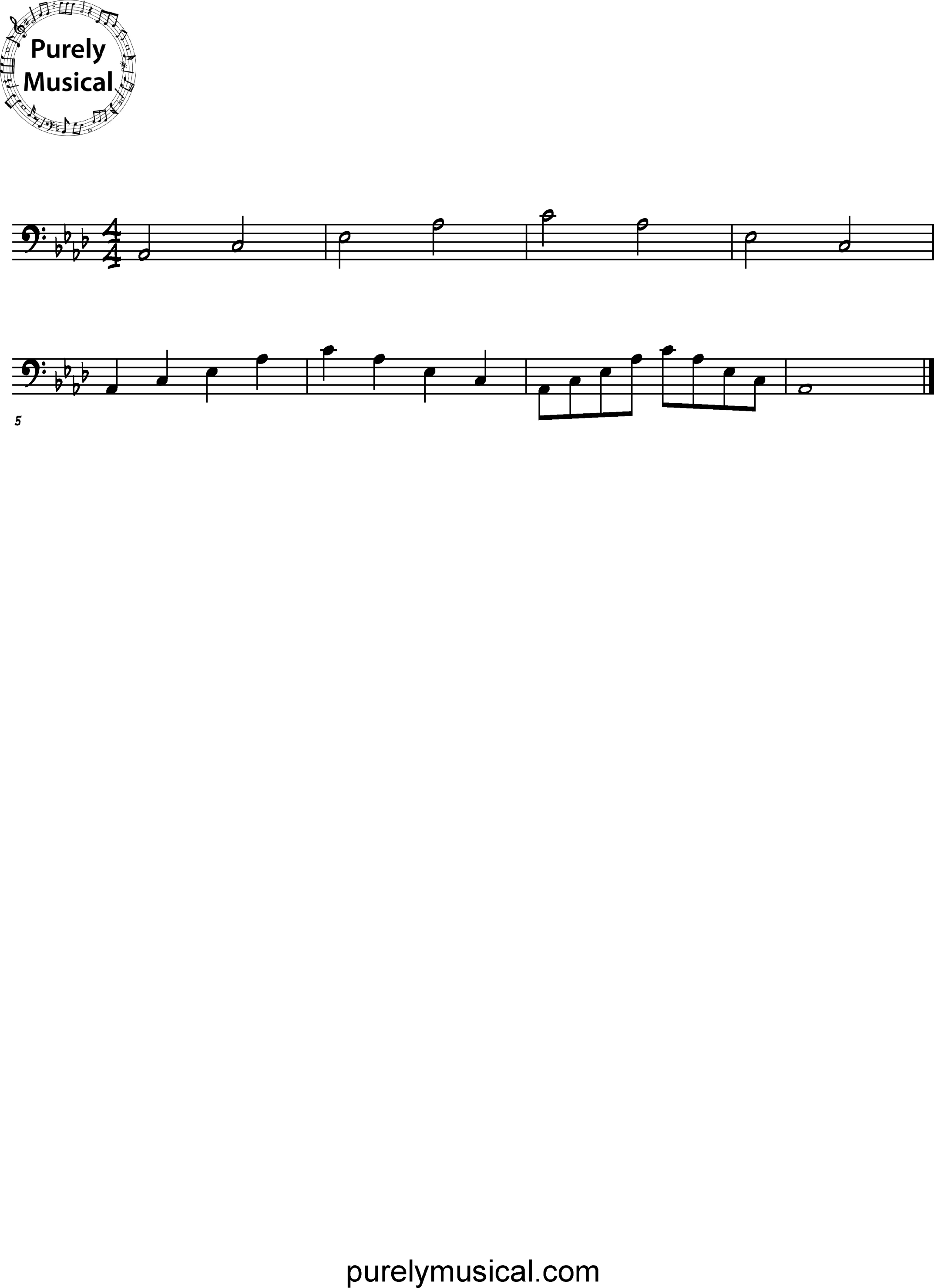 Intermediate  Arpeggio Ab Major