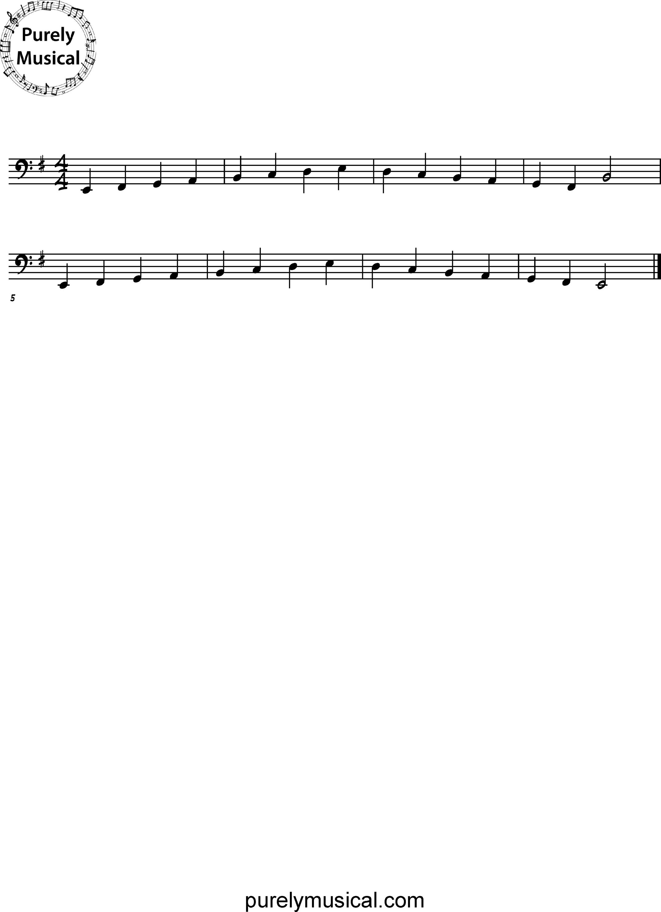 Beginner  Scale E Minor