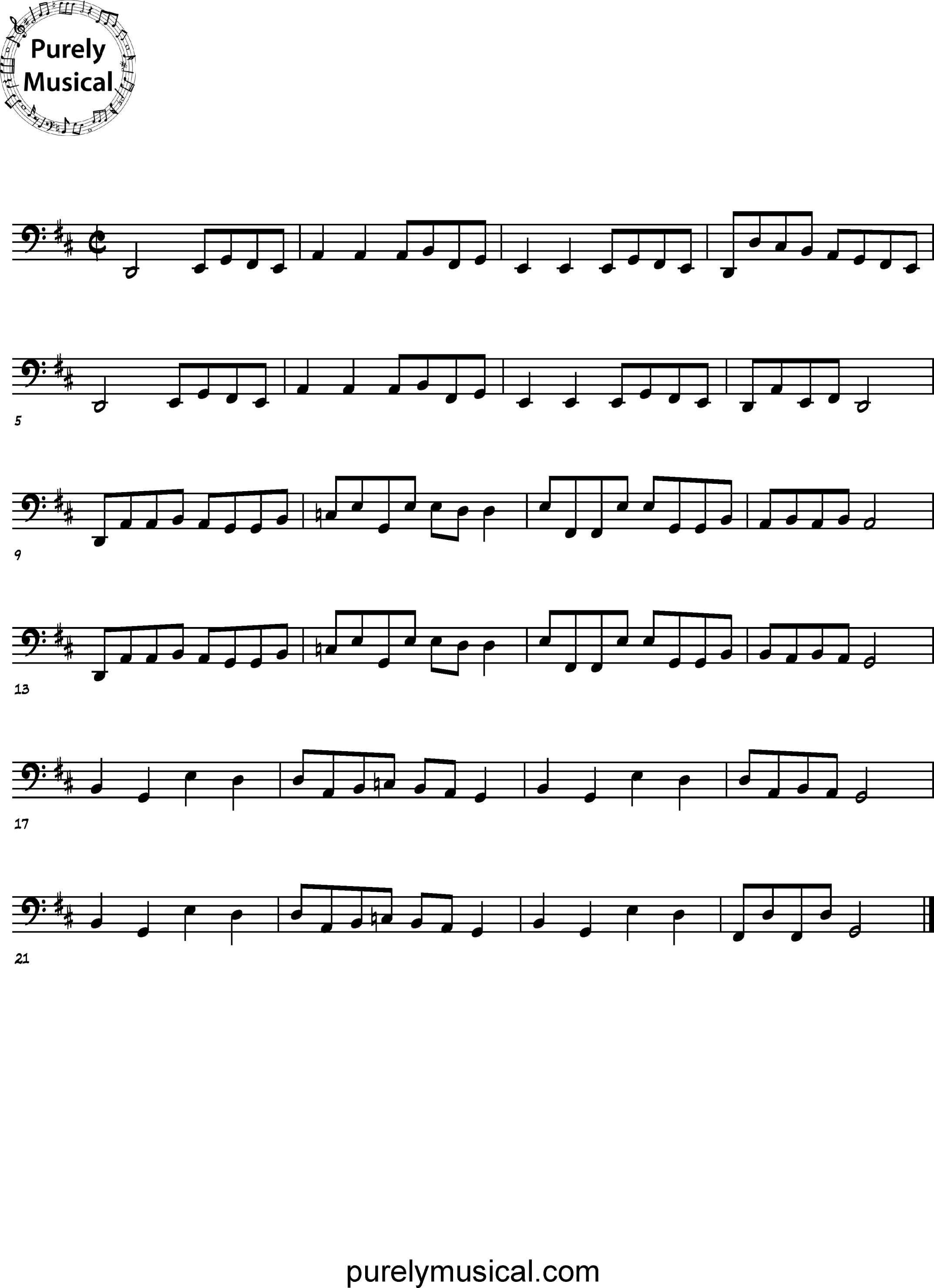 Advanced  Melodic Execise Can-can for Cello
