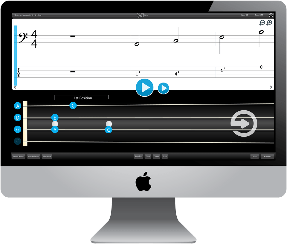 Purely Cello Software Application